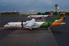 BACK FROM TANZANIA TO NAIROBI WITH PRECISiON AIR (Mike Reval) Tags: nairobi airport kenya aircraft atr42