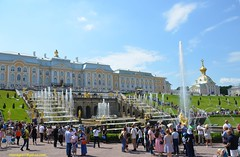 Peterhof Palace (hamid-golpesar) Tags: peterhofpalace palace peterhoffountainpark park garden fountain fountains peterhoffountains stpetersburg saintpetersburg russia sky people cathedral hamid hamidowaysee hamidgolpesar owaysee outdoor tabriz travel iran landscape nature