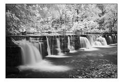 Natural Dam - IR (Terry L. Olsen) Tags: naturaldam ozarknationalforest crawfordcounty arkansas infrared blackandwhite water waterfall trees