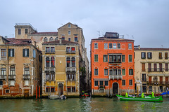 Tight Squeeze (street level) Tags: italy venice boats canal architecture venezia travelphotography grandcanal colorful europe cityscape nikonz