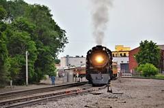 Chicago, Milwaukee, St. Paul & Pacific Railroad- Milwaukee Road No. 261, Minnesota, Minneapolis (EC Leatherberry) Tags: milwaukeeroad chicagomilwaukeestpaulpacificrailroad minneapolisminnesota hennepincounty railroad milwaukeeroadno261 minnesota 1944 484wheelarrangement americanlocomotivecompany