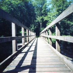 The Footbridge (oldeyes47) Tags: kodak ektar100 epsonv600 southyorkshire bellini c41 riverdon mediumformat filmphotography zeroimage pinholecamera