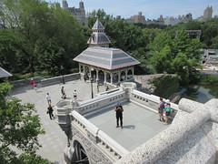 2019 Belvedere Castle Above the Turtle Pond NYC 3488 (Brechtbug) Tags: 2019 belvedere castle perched above turtle pond near delacorte theater closest 79th st central park west designed by architects calvert vaux jacob wrey mould 1869 victorian folly hybrid gothic romanesque styles medieval keep used measure weather patterns manhattan nyc june 062919 new york city summer reopened renovation romantic ruin mini palace lookout post tower turret stone bluff craggy rocky hill