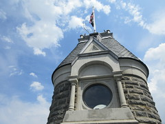 2019 Belvedere Castle Above the Turtle Pond NYC 3486 (Brechtbug) Tags: 2019 belvedere castle perched above turtle pond near delacorte theater closest 79th st central park west designed by architects calvert vaux jacob wrey mould 1869 victorian folly hybrid gothic romanesque styles medieval keep used measure weather patterns manhattan nyc june 062919 new york city summer reopened renovation romantic ruin mini palace lookout post tower turret stone bluff craggy rocky hill