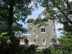 2019 Belvedere Castle Above the Turtle Pond NYC 3469 (Brechtbug) Tags: 2019 belvedere castle perched above turtle pond near delacorte theater closest 79th st central park west designed by architects calvert vaux jacob wrey mould 1869 victorian folly hybrid gothic romanesque styles medieval keep used measure weather patterns manhattan nyc june 062919 new york city summer reopened renovation romantic ruin mini palace lookout post tower turret stone bluff craggy rocky hill