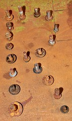 'R' is for Rust.... (BIKEPILOT, Thx for + 5,000,000 views) Tags: smileonsaturday rustybeauty rust r rusty nuts bolts bench metal letter old decay corrosion workbench fastenings threads