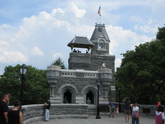 2019 Belvedere Castle Above the Turtle Pond NYC 3492 (Brechtbug) Tags: 2019 belvedere castle perched above turtle pond near delacorte theater closest 79th st central park west designed by architects calvert vaux jacob wrey mould 1869 victorian folly hybrid gothic romanesque styles medieval keep used measure weather patterns manhattan nyc june 062919 new york city summer reopened renovation romantic ruin mini palace lookout post tower turret stone bluff craggy rocky hill