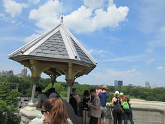 2019 Belvedere Castle Above the Turtle Pond NYC 3484 (Brechtbug) Tags: 2019 belvedere castle perched above turtle pond near delacorte theater closest 79th st central park west designed by architects calvert vaux jacob wrey mould 1869 victorian folly hybrid gothic romanesque styles medieval keep used measure weather patterns manhattan nyc june 062919 new york city summer reopened renovation romantic ruin mini palace lookout post tower turret stone bluff craggy rocky hill