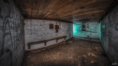 Casemate VIII Armoury and shelter (pe0s, Steven) Tags: apocalypse apocalyptic stalker war hrd bunker bunkers ww2 abandoned urbex atlantic wall atlanticwall fort fortress hidden casemate ammunition cannon kornwerderzand trench fisheye armoury