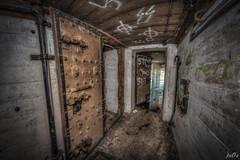 Casemate VIII Hallway (pe0s, Steven) Tags: apocalypse apocalyptic stalker war hrd bunker bunkers ww2 abandoned urbex atlantic wall atlanticwall fort fortress hidden casemate ammunition cannon kornwerderzand trench fisheye armoury