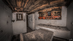 Casemate VIII Cannon stand (pe0s, Steven) Tags: apocalypse apocalyptic stalker war hrd bunker bunkers ww2 abandoned urbex atlantic wall atlanticwall fort fortress hidden casemate ammunition cannon kornwerderzand trench fisheye armoury