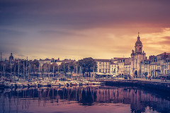 La Rochelle (Ro Cafe) Tags: harbor port city cityscape old sea town france evening sunset nikond600 nikkor2470mmf28
