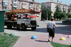 Kiev Street (dmitriy.marichev) Tags: leicar7 leica r7 summicronr leitz 1250 leitzsummicronr1250 leicasummicronr1250 film fuji pro400h analog city kiev street color life darnytsya dmitriymarichev