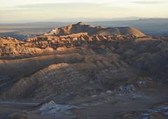 Sunset at Valle de la Luna. (Ruby 2417) Tags: sunset alpenglow scenery landscape badlands chile atacama desert valley luna muerte