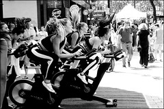 Intense exercise - DSCF2247a (normko) Tags: london seven dials festival high intensity exercise bjorn borg fitness pedal bike
