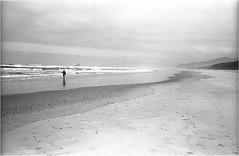 Low Tide Fishing (sicsnewton) Tags: beach ocean surf fishing oregon waves sand tide