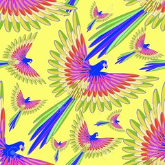 seamless pattern blue the Caribbean parrot fly vector illustration (Galeria Posters EM) Tags: ancient animal antique ara ararauna art artwork avian beautiful bird black blue bolivia brazil butterscotch caribbean colorful design drawing element exotic feather flight fly gold graphic green illustration macaw neotropical panama paraguay parakeet parrot picture silhouette trinidad tropical vector venezuela wing yellow seamlesspattern