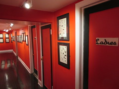 80 Years of Batman - Society of Illustrators Mezzanine Red Hallway 3359 (Brechtbug) Tags: 80 years batman show society illustrators building east 63rd street near lexington avenue 06292019 museum comic cartoon art new york city june 2019 strip comicbook illustration exhibitions exhibition museums galleries pop popular culture pulp fiction comics sunday funnies comix location interior mocca fest hall halls soi bat manga jiro kuwata s japanese version originals collected by chip kidd american graphic designer and others