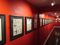80 Years of Batman - Society of Illustrators Mezzanine Red Hallway 3358 (Brechtbug) Tags: 80 years batman show society illustrators building east 63rd street near lexington avenue 06292019 museum comic cartoon art new york city june 2019 strip comicbook illustration exhibitions exhibition museums galleries pop popular culture pulp fiction comics sunday funnies comix location interior mocca fest hall halls soi bat manga jiro kuwata s japanese version originals collected by chip kidd american graphic designer and others