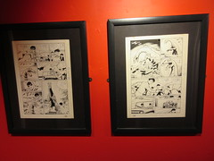 80 Years of Batman - Society of Illustrators Mezzanine Red Hallway 3360 (Brechtbug) Tags: 80 years batman show society illustrators building east 63rd street near lexington avenue 06292019 museum comic cartoon art new york city june 2019 strip comicbook illustration exhibitions exhibition museums galleries pop popular culture pulp fiction comics sunday funnies comix location interior mocca fest hall halls soi bat manga jiro kuwata s japanese version originals collected by chip kidd american graphic designer and others