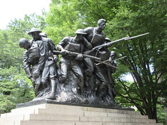 107th Infantry Memorial World War One Soldiers NYC 3446 (Brechtbug) Tags: 107th infantry memorial dedicated soldiers who died during world war i created by sculptor karl morningstar illava central park 5th ave 67th streets represents seven nyc 06292019 new york city september 29 1927 wwi one public art statue sculpture june 2019