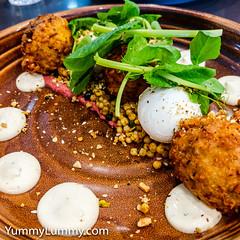 Breakfast fritters (garydlum) Tags: eggs fritters poachedeggs canberra australiancapitalterritory australia