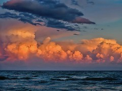 Sanibel Sunset 6/29/19 #sanibelisland #sunset #intensesunset #olympusinspired #nevergetsold #beachwalk #nightlyritual #vacationvibes #clouds #seascape #nationalcameraday (Sivyaleah (Elora)) Tags: sanibel island florida sunset cloud beach ocean sea waves blue orange olympus penf nature mirrorless micro fourthird vacation june 2019