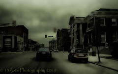 Clouds Forming (HSS) (13skies) Tags: city streets darkseries happyslidersunday topaz postprocessing effects doom darkness apocalyptic ending cars postwork hss buildings