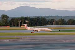 Piedmont 4885 - N691AE - Embraer ERJ-145 (BenWestPhotography) Tags: nikon nikonp7800 dxo dxoopticspro10 btv kbtv burlingtoninternationalairport vermont vt evening aviation airport airplanes mountains plane spotting erj e145 jet americaneagle