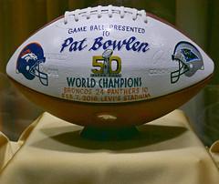 Super Bowl 50 - Game Ball (Colorado Sands) Tags: football profootball americanfootball professionalfootball denverbroncos denver colorado usa patbowlen celebrationoflife worldchampions superbowl50 sandraleidholdt rip gameball 2016