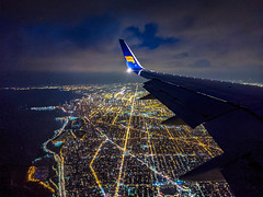 2019-168/365 Above Chicago (Sharky.pics) Tags: night usa june inflight airplane chicago illinois nightscape 2019 summer travel