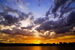 Waneka Lake - Lafayette Colorado (Bernie Duhamel) Tags: wanekalake wanekalakepark wanekareservoir water reflection sonya7riii sony2470mm frontrange greatphotographers teamsony rockymountains sunset bernie duhamel sun clouds mountains colorado