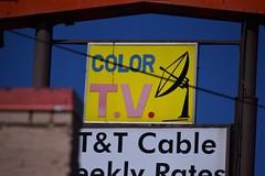 Color T.V. (slammerking) Tags: color tv television sign motel colfax