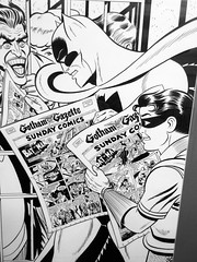 80 Years of Batman at Society of Illustrators Batman Sundays 3244A (Brechtbug) Tags: 80 years batman show society illustrators building east 63rd street near lexington avenue 06292019 museum comic cartoon art new york city june 2019 strip comicbook illustration exhibitions exhibition museums galleries pop popular culture pulp fiction comics sunday funnies comix location interior mocca fest hall halls soi bat manga jiro kuwata s japanese version originals collected by chip kidd american graphic designer and others