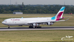 DUS - Eurowings Airbus A340-300 OO-SCW (Eyal Zarrad) Tags: a343 dusseldorf eddl eurowings ooscw aircraft airport aviation airline airlines aeroplane avion eyal zarrad airplane spotting avgeek spotter airliner airliners dslr flughafen planespotting plane transportation transport photography aeropuerto dus germany 2019 international canon 7d mk2 jet jetliner