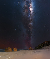 Milky Way at Salmon Beach - Windy Harbour, Western Australia (inefekt69) Tags: milky way windy harbour salmon beach tracked ioptron skytracker cosmology southern hemisphere cosmos western australia dslr long exposure rural night photography nikon stars astronomy space galaxy astrophotography outdoor core great rift 35mm d5500 panorama stitched mosaic nature landscape msice sky