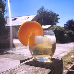 G&T Time (Cathy G) Tags: hipstamatic oggl bokaaplens 12apostlesfilm 12 apostlesbokapp iphone iphone7 iphoneography squareformat gt summer hot orange gin drink home
