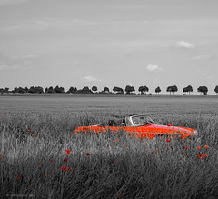 color of the day (carsten.plagge) Tags: 2019 cp55 carstenplagge himmel mg mgb red roadster rot wolken offen
