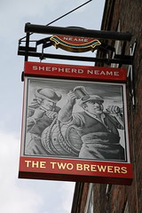The Two Brewers, Rochester (Shepherd Neame) (Ray's Photo Collection) Tags: rochester medway kent pub publichouse sign thetwobrewers shepherdneame