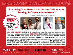 Early Career Development Course #ACRM2019 Chicago (ACRM-Rehabilitation) Tags: earlycareerdevelopmentcourse earlycareernetworkinggroup acrmprogressinrehabilitationresearchconference acrmconference acrm acrm|americancongressofrehabilitationmedicine annualconference interdisciplinary interprofessional rehabilitationresearch rehabilitation evidencebased