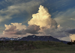 I saw clouds taller than the tallest mountains (Irwin Scott) Tags: huge clouds cumulus storm hillairforcebase utah huaweip30pro landscape mountain mountainrange hill
