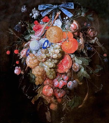 IMG_1246 Cornelis de Heem 1631-1695 Anvers Feston avec des fruits et des fleurs Feston mit Früchten und Blumen Feston with fruits and flowers Schwerin.Staatliches Museum