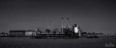 SILVERTOWN 1 (Nigel Bewley) Tags: tateandlyle sugarrefinery factory industry silvertown london england uk blackandwhite riverthames sacredriver unlimitedphotos june june2019 nigelbewley photologo appicoftheweek