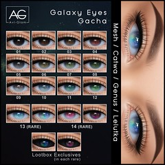 Galaxy Eyes Gacha (Avi-Glam) Tags: aviglam ag lootbox sl mesh eyes appliers gacha