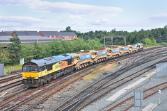 66850-Chester-30.6.19 (shaunnie0) Tags: 66850 66848 class66 colas colasfreight colasrailfreight shed generalmotors gm autoballaster 6c90 chesterstation