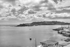 Drakes Island (sharpshot2008) Tags: plymouth port sea sky light cloud bw drakes island uk gb devon history seaside