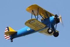 Boeing Stearman A75N1 Kaydet G-ISDN (Craig S Martin) Tags: aircraft aviation airplane kemble