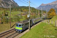 Re 4/4 503 BLS bei Kandersteg, DSCN7258-2 (Swiss Railway Photography) Tags: bls kandersteg re3265 re44 sbb zug train tunnel