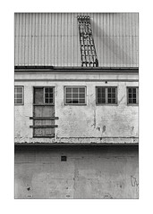 Warehouse composition (K.Pihl) Tags: olympusom1 perceptolstock monochrome zuiko50mmf14 warehouse blackwhite schwarzweiss bw pellicolaanalogica film analog 400tmy