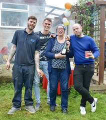 20190625 Liz and the boys with champagne (rona.h) Tags: 2019 june liz james tristan callum